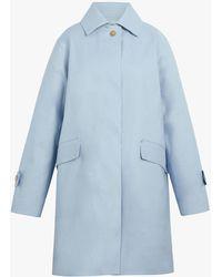 Mackintosh Placid Blue Bonded Cotton Coat Lr-094