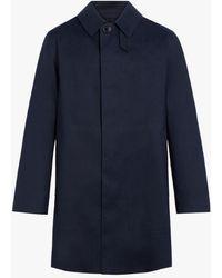 Mackintosh Dunoon Cotton Short Coat - Blue