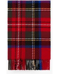 Mackintosh Royal Stewart Merino Wool & Cashmere Scarf | Acc-022 - Red