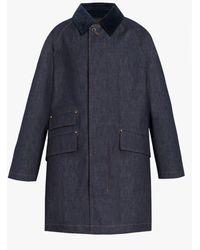 Mackintosh Falkirk Indigo Raintec Denim Field Coat | D-mc1021bs - Blue