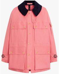 Mackintosh New York Tea Rose Bonded Cotton Field Jacket Grf-303 - Pink