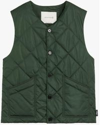 Mackintosh Hig Green Quilted Nylon Nylon Liner Vest Gqm-204