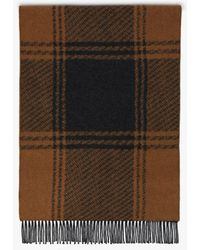 Mackintosh Brown & Charcoal Cashmere Blend Scarf | Acc-020
