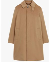 Mackintosh Dunkeld Camel Storm System Wool 3/4 Coat Gm-1001f - Natural