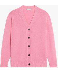 Mackintosh Stockholm Pink Merino Wool & Cashmere Cardigan Gkf-300