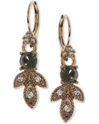 Marchesa | Gold-tone Pavé & Colored Stone Drop Earrings | Lyst