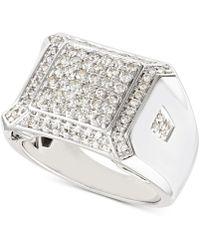 Macy's Diamond Cluster Ring (1-1/4 Ct. T.w.) In 10k White Gold