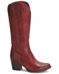 Wanted Texan Western Tall Boot - Red