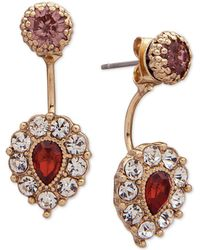 Lonna & Lilly - Gold-tone Pavé & Stone Jacket Earrings - Lyst