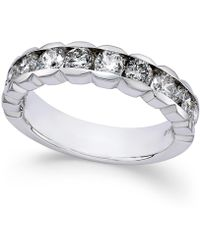 Macy's - Diamond Channel-set Band (1-1/2 Ct. T.w.) In 14k White Gold - Lyst