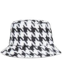 DKNY Printed Woven Bucket Hat - Black