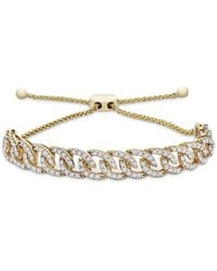 Wrapped in Love - Tm Diamond Chain Link Bolo Bracelet (1 Ct. T.w.) In 10k Gold, Created For Macy's - Lyst