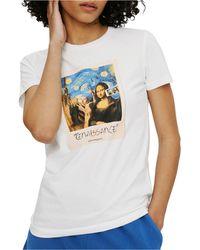 ELEVEN PARIS Mona Lisa Graphic Top - White