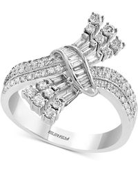Effy Collection Effy® Diamond Intertwined Statement Ring (5/8 Ct. T.w.) In 14k White Gold - Metallic