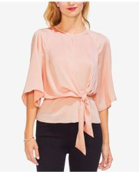 Vince Camuto - Tie-front Keyhole-detail Top - Lyst
