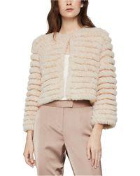 BCBGMAXAZRIA Cropped Faux-fur Jacket - Multicolor