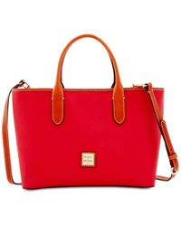 Dooney & Bourke Brielle Pebble Leather Satchel - Red