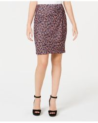1.STATE - Ditsy Drift Ruched Mini Skirt - Lyst