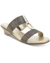 Karen Scott Eanna Sandals, Created For Macy's - Metallic