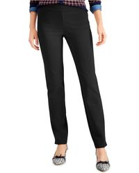 Charter Club Pull-on Ponté-knit Pants, Created For Macy's - Black
