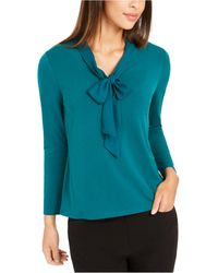 Charter Club Woven Tie Top, Created For Macy's - Blue