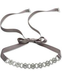 Carolee - Silver-tone Crystal & Pavé Ribbon Choker Necklace - Lyst