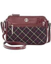 Giani Bernini Plaid Croco Crossbody, Created For Macy's - Multicolour