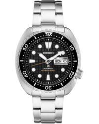 Seiko - Automatic Prospex King Turtle Stainless Steel Bracelet Watch 45mm - Lyst