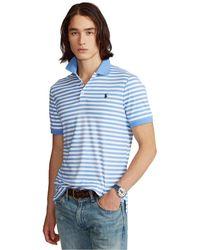 Polo Ralph Lauren Classic-fit Soft Cotton Polo Shirt - Blue