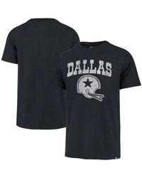 47 Brand Navy Dallas Cowboys Throwback Lockup T-shirt - Blue