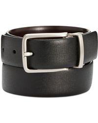 Perry Ellis Men's Reversible Leather Belt - Black