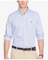 Polo Ralph Lauren - Hairline-striped Poplin Shirt - Lyst