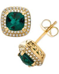 3c0fc1880 Argento Vivo Reconstituted Turquoise Stud Earrings In 18k Gold-plated  Sterling Silver in Metallic - Lyst