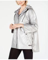 Calvin Klein - Performance Snap-side High-low Hem Rain Jacket - Lyst