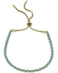 Argento Vivo Aqua Chalcedony Bolo Bracelet (also In Onyx) - Metallic
