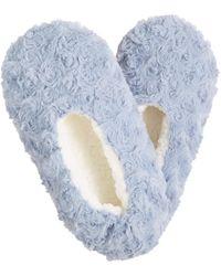 Charter Club Faux-fur Slipper Socks, Created For Macy's - Blue