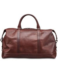 Mancini Buffalo Collection Carry On Duffle Bag - Brown