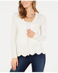 Charter Club Open-front Cardigan, Created For Macy's - White
