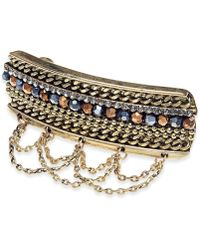 INC International Concepts I.n.c. Gold-tone Stone Multi-chain Hair Clip, Created For Macy's - Metallic