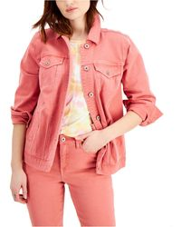Style & Co. Denim Trucker Jacket, Created For Macy's - Pink