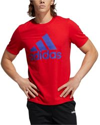 adidas Badge Of Sport Logo T-shirt - Red