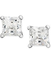 Macy's - Princess-cut Diamond Stud Earrings In 14k White Gold & Yellow Gold (3/4 Ct. T.w.) - Lyst