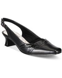 Easy Street Stunning Slingback Court Shoes - Black