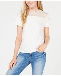 Maison Jules - Swiss Dot Short-sleeve Sweatshirt, Create For Macy's - Lyst