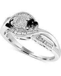 Macy's - Diamond Twist Ring (1/4 Ct. T.w.) In Sterling Silver - Lyst