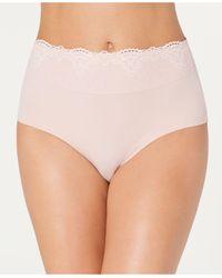 Bali Passion For Comfort Lace-waist Brief Underwear Dfpc61 - Pink