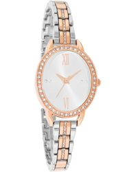 Charter Club Two-tone Pavé Bracelet Watch 37mm, Created For Macy's - Metallic