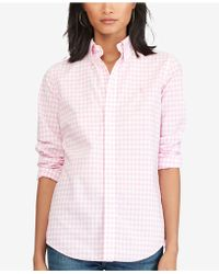 Polo Ralph Lauren - Gingham Cotton Poplin Shirt - Lyst