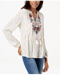 Vintage America - Julia Embroidered Peasant Top - Lyst
