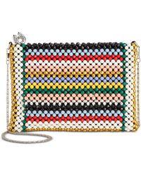 Betsey Johnson Just Bead It Clutch/crossbody (multi) Cross Body Handbags - Multicolour
